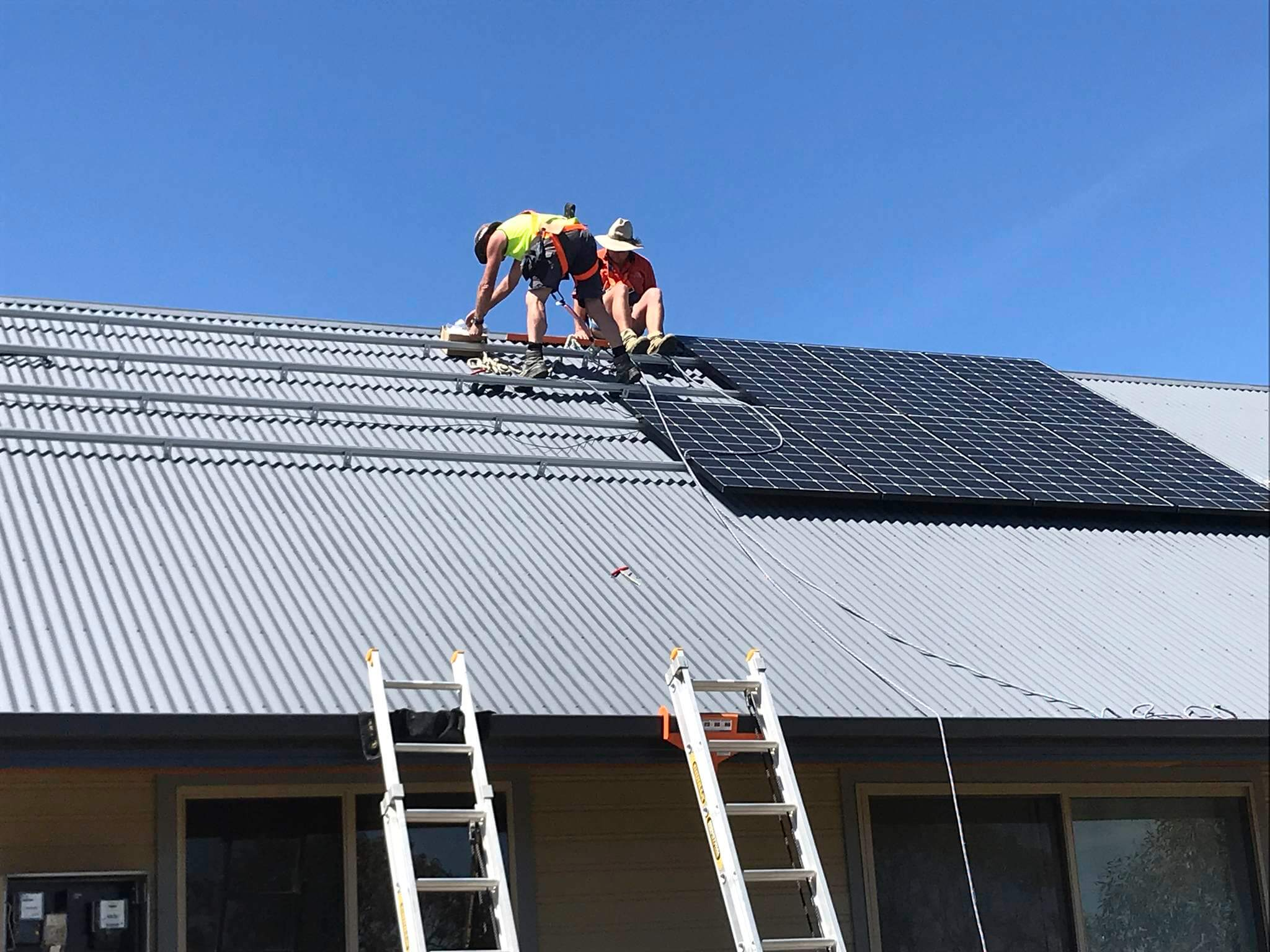 Snowy Regional Solar - Installation on a 36-degree roof pitch