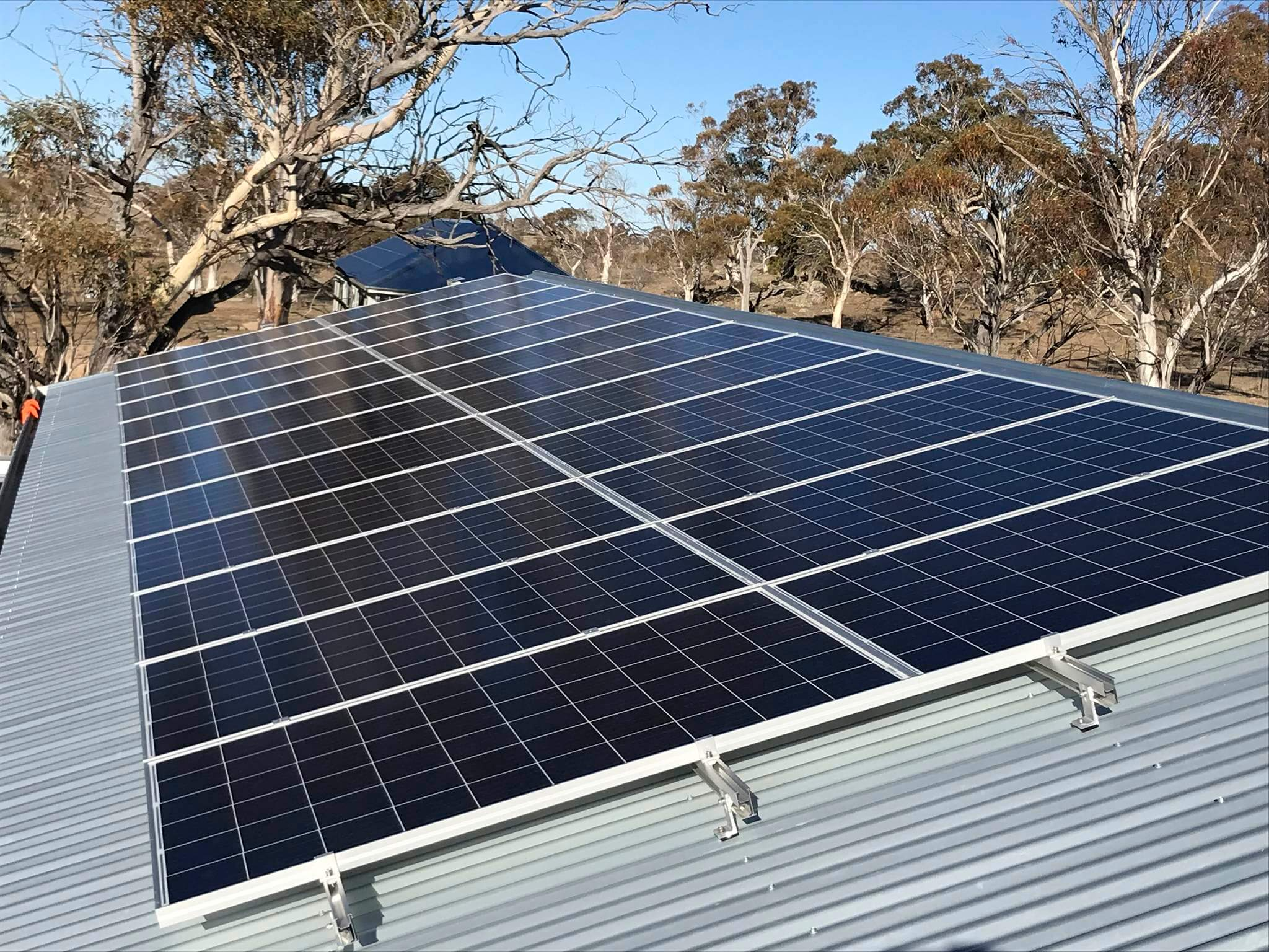 Snowy Regional Solar - Shed mounted arrays, Ingebyra, NSW 2